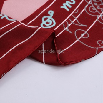 Sexy Shawl Style Women Square Pure Twill 100% Silk Scarves