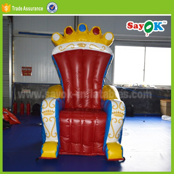 PVC material cheap King inflatable throne chair factory price for sale