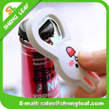 PVC Bottle Opener with Magnetic Back, home tooling beer openers
