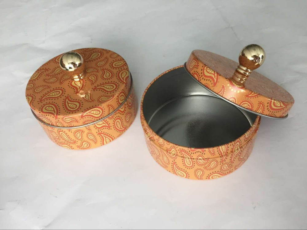 wholesale round candle tin box, candle tin container