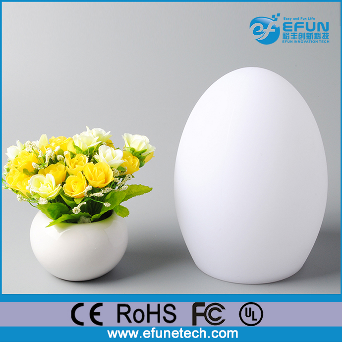 Egg Shaped Table waterproof battery decorative table lamp,egg shaped color changing