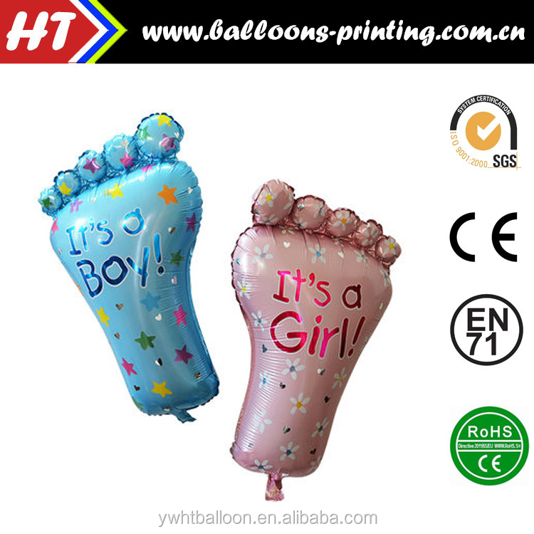 [Promotion] Baby Feet Foil Balloons 79CMX46CM Party Decoration Helium Balloons