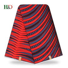 H & D ODM Top 2018 Style Fashion 6 Yards Ankara Wholesale African Wax Print Fabric For OEM