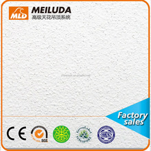 mineral fiber acoustic ceiling tiles, White color asbesto free ceiling boards