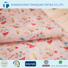 custom printing/dyeing 100% cotton flannel fabric for bed sheets and baby clothes