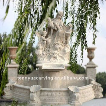 Marble Figure Wall Fountain