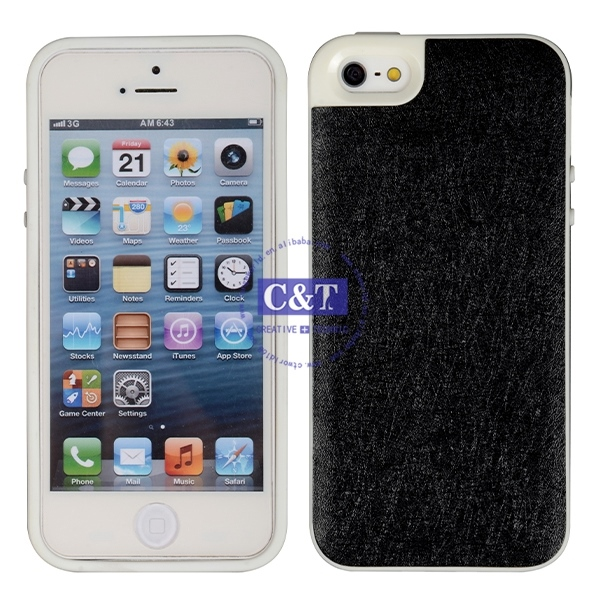 New products unique design universal for iphone5 tpu bumper + matte pc backside case