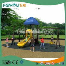 Feiyou Hottest Selling Outdoor Playgrounds With Plastic Swing Playset For Small Spaces