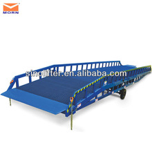 10t mobile hydraulic container loading dock ramp lifter
