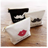 wholesale fashion cheap canvas cosmetic bag, women travel cosmetic bag,lip shaped cosmetic bag