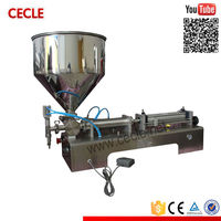 Portable manual pneumatic past filling machine/peanut butter packing machine/pneumatic piston fillers for sale