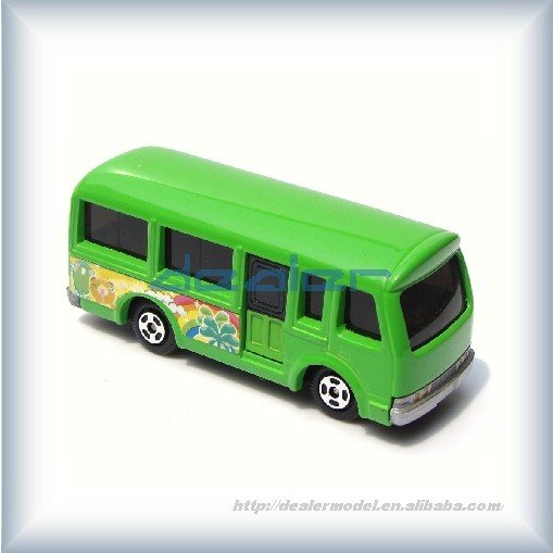 model car/Mini-bus green,metal car,architectural model cars
