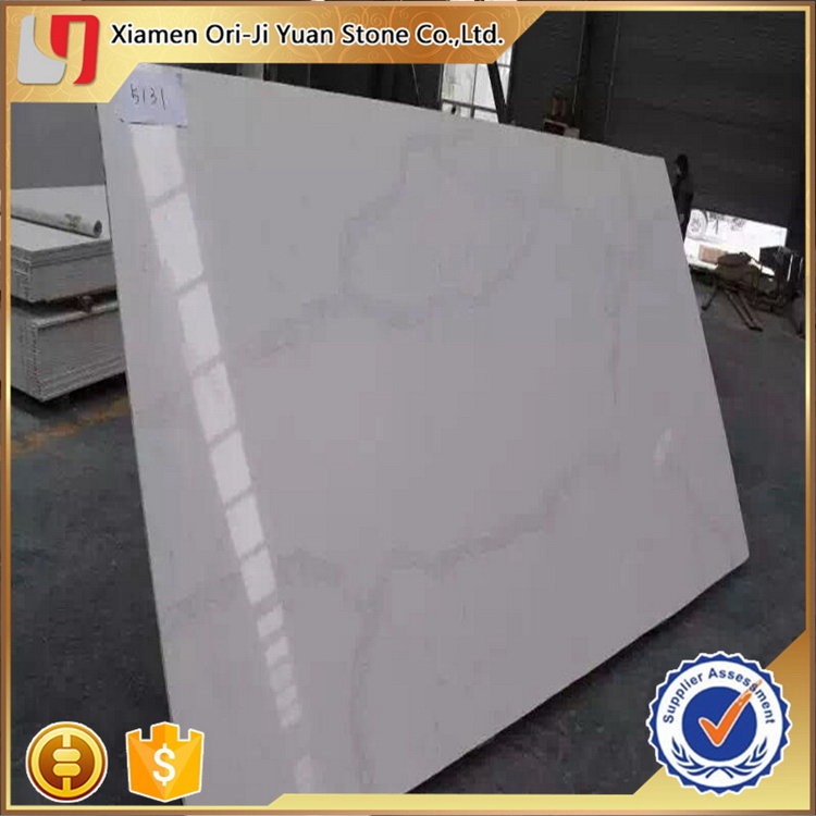 Customized new coming terrazzo white artificial quartz stone