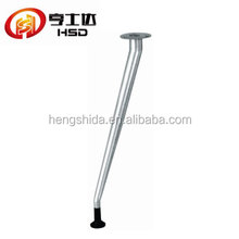 Spraying silver bar table foot iron adjustable oblique table legs