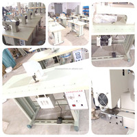 Single motor ultrasonic sealing and cutting sewing machine for nonwovens
