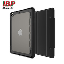 Tablet Case Translucent Silicone Shock Proof Folding Magnetic Ultra Slim Stand Anti-Dirt Smart Cover Case For 2017 New iPad