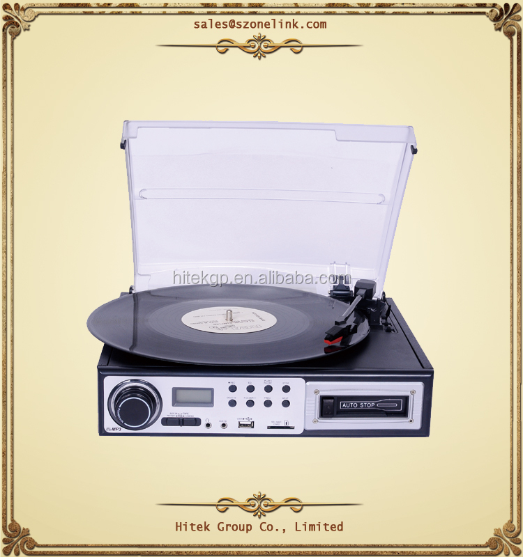 Manufacturers direct sales high quality USB/SD recording turntable record player vinyl turntable