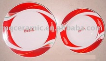 Advertising ceramic plate