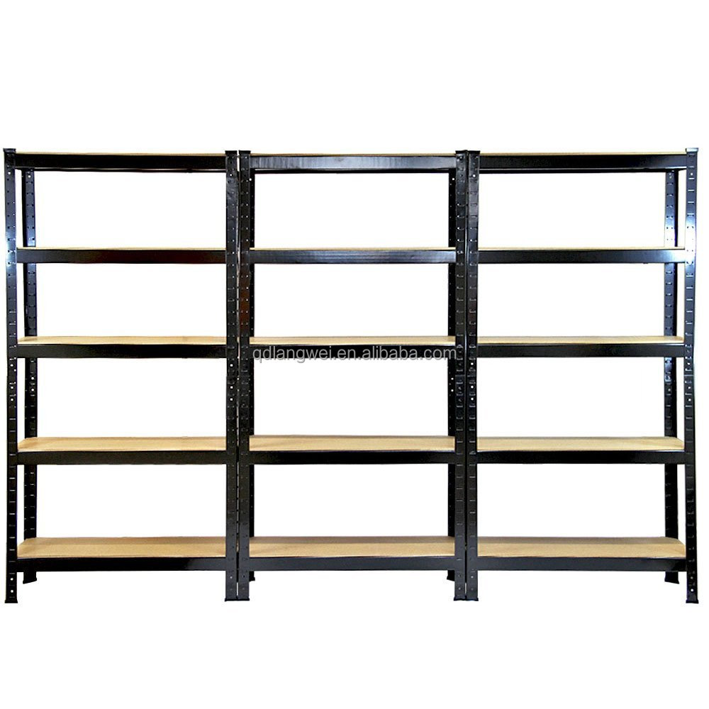 5 tier heavy duty boltless wall mounted shelving wholesale. Black Bedroom Furniture Sets. Home Design Ideas