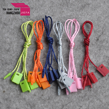 Custom logo clothing hang string lock plastic seal tag for garment