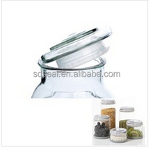 OEM Hot Sale Clear Silicone Glass Jar Ring Seal
