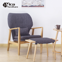 best price classic design wooden frame relaxing fabric sofa chair