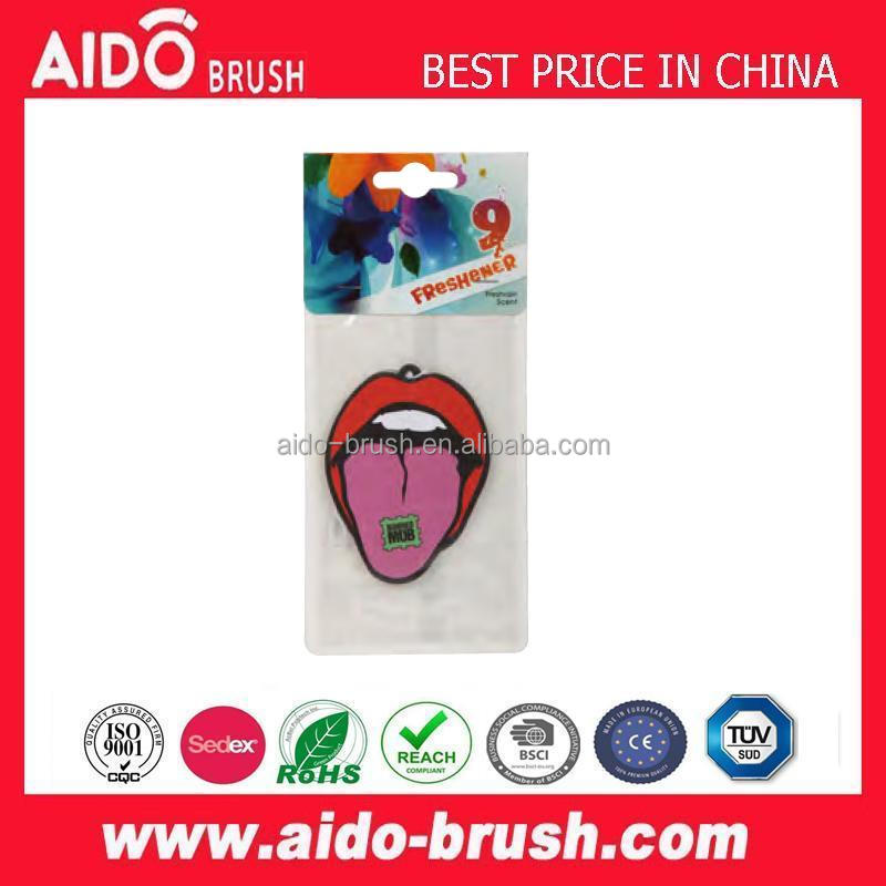 AD-1718 promotional gifts/unique print OEM bulk hanging car paper air fresheners