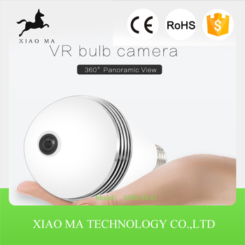 360 degree Panoramic 960P Hidden wifi Camera Light Bulb XMR-JK43