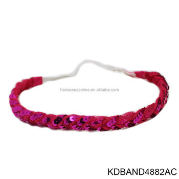 Sequins Bandana Headwrap Headband For Girls