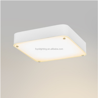 2016 Latest Design Modern 35cm Square Glass LED Dimmable 16W 960LM Ceiling Light /plafon for Indoor Lighting