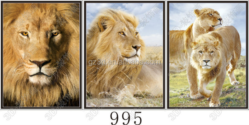 Dongchen Lihua deep 3d flips effect picture of lion king for home decors