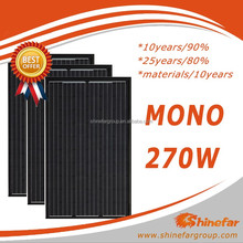 Cheap price all black 270W mono Solar kit with all certifications