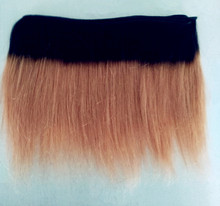 "Ombre color 12"" 14"" human hair weave bundles"