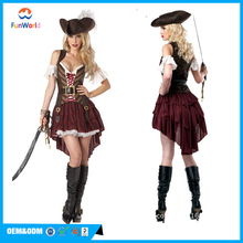 Adult woman pirate carnival halloween costume