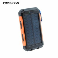 Dual SUB Universal Aluminum Metal Portable USB solar Power Bank Charger For Cell Phone mobile devices