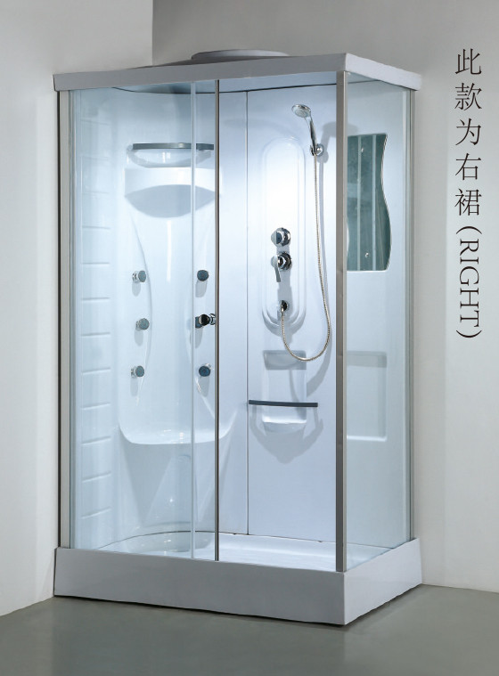 cheap rectangle enclosed steam shower cabin