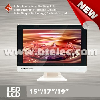"Double glass white 15"" inch new China led tv"