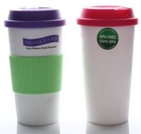 Hot selling printed logo cheap plastic custom coffee cup with lid with hand grip