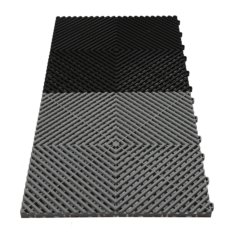 Indoor synthetic non slip interlock garage floor covering tiles