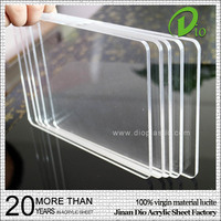 wholesale best price basketball board marble 10mm clear acrylic sheet