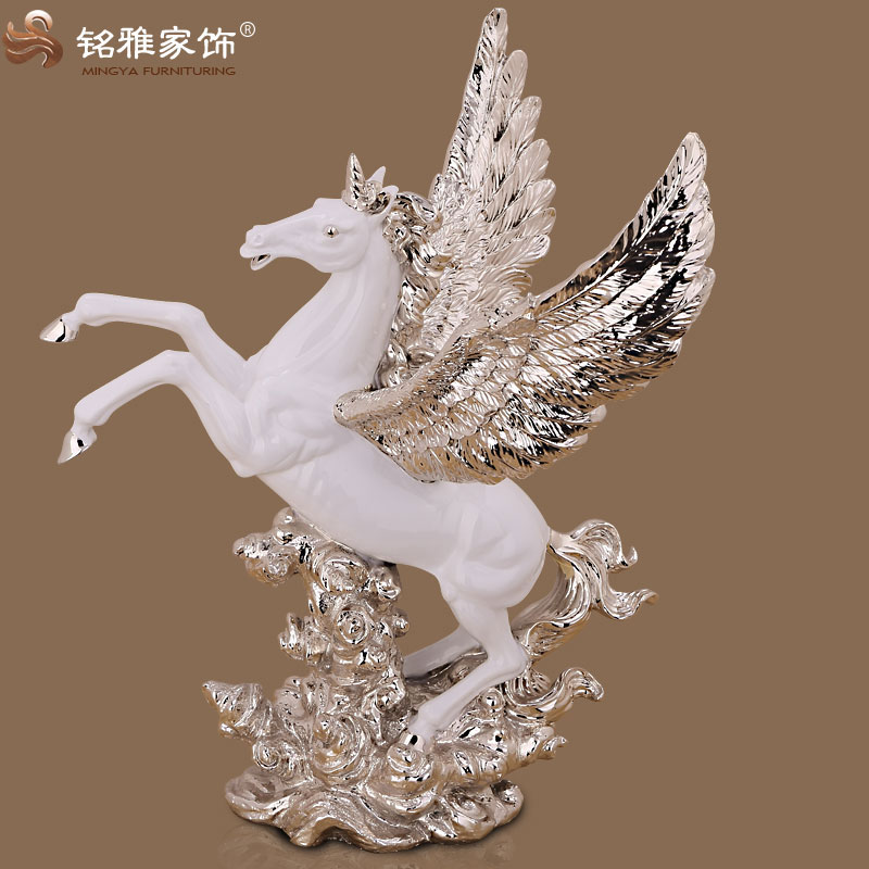 popular selling fairy horse figurines wholesale for promotion in white color