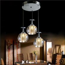 Modern design crystal and glass led suspended ceiling light fittings