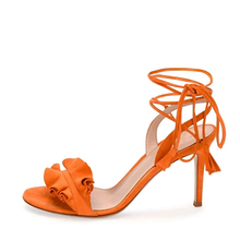 Leather high heel sandals 2017 for women newest style sandals ladies sandals photo