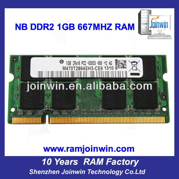 Work with motherboards cheap price 8bits ddr2 1gb ram laptops prices in china