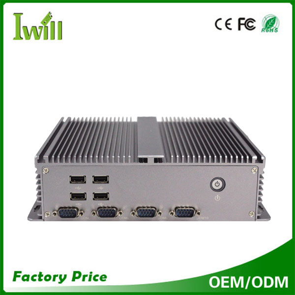 1037U dual core fanless mini pc with dual lan and 10*COM