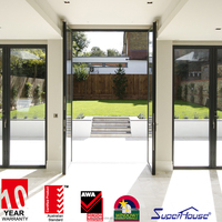Aluminum french door wholesale in China factory