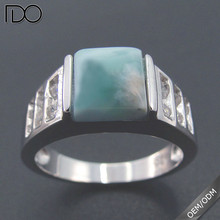 China professional manufacturer supply larimar value 925 silver ring