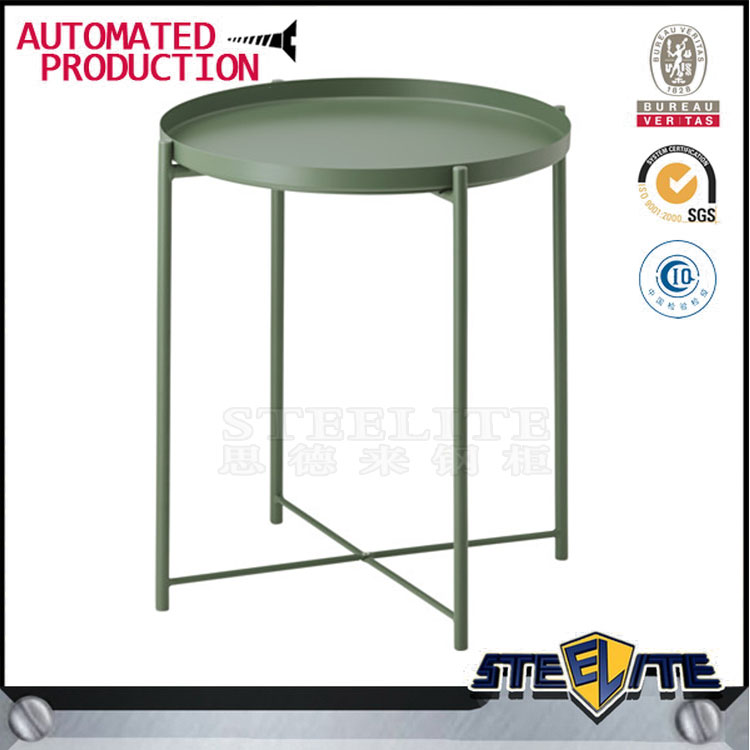 Modern Coffee Side Table Tray Metal Sofa End Table