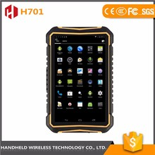 quality Assurance 7inch rugged wireless H701 ip 65 android 4.4.2 rfid reader water proof handheld pda