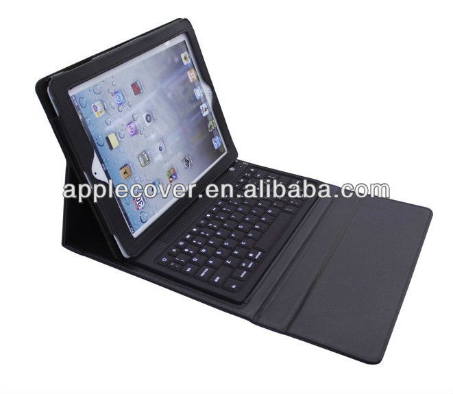 Wireless Bluetooth keyboard with PU leather stand case cover For Apple iPad 3